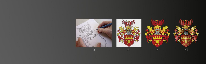 Familienwappen erstellen, Familienwappen registrieren, eigenes Wappen, wappen erstellen, familienwappen entwerfen, wappen gestalten, Wappenkünstler