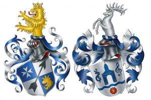 Helm bei Familienwappen, Spangenhelm, Stechhelm, Familienwappen erstellen lassen, Wappen erstellen, eigenes Wappen